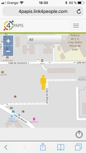 mapa localizador personas alzheimer